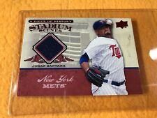 T2-92 BASEBALL CARD - JOHAN SANTANA METS - 2008 UPPER DECK - GAME JERSEY PIECE
