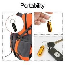 Waterproof Aluminum Pill Box Case Bottle Cache Drug Container Keychain W2V6