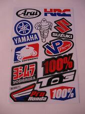 Sticker autocollant Arc auto-Tuning HRC 100% Arai SUZUKI YAMAHA RACING GT GTI FX