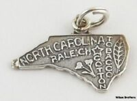 North Carolina Charm - Sterling Silver 925 Souvenir Travel Estate Pendant