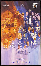 1991-92 TORONTO MAPLE LEAFS RECORD BOOK GUIDE NM WITH WENDEL CLARK GRANT FUHR