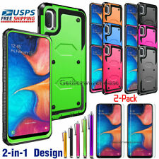 For Samsung Galaxy A10e Case Cover Armor With HD Tempered Glass Screen Protector