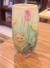 "harmony kingdom / Jardinia / Under The Tulip Tree / 5"" High / Displays 5 Cats"