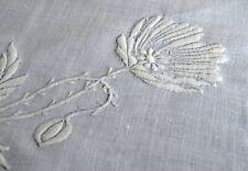 Vintage Heavily Embroidered TEA CLOTH Tablecloth UU903