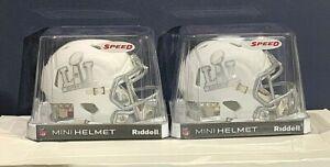 (2) 2017 Super Bowl LI Riddell Speed Mini Helmet Patriots vs Falcons Brady NIB
