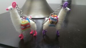 2 Assorted Handmade Llama Keychain/ornament/souvenir Peru Machu Picchu handmade