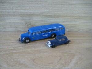 BREKINA TOYS 1/86 (HO Scale)  2 VEHICLES ( Mercedes Bus & Citroen )  FABULOUS