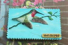 Malediven Kolibri Reiseandenken 3D Polyresin Kühlschrankmagnet Souvenir Magnet