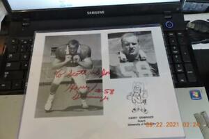 Nebraska Cornhusker - autographed photograph #-58 Harry Griminger Herbie Husker