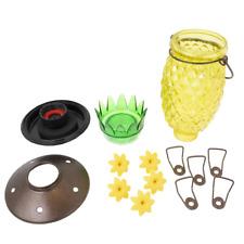 New listing Pineapple Top-Fill Decorative Glass Hummingbird Feeder - 28 oz. Capacity