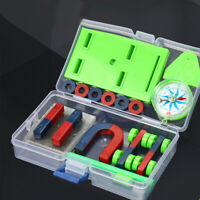 DIY Bar Ring Horseshoe Compass Magnets Set Science Experiment Tool Kids Toy GIFT