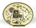 "Aesthetic Transferware Swan Bank Pottery James Beech Perak Pattern Platter 16"""