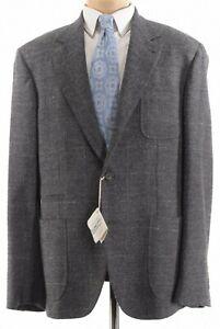 Brunello Cucinelli NWT Sport Coat 46R Gray Plaid Boucle Lofty Flannel $3,775