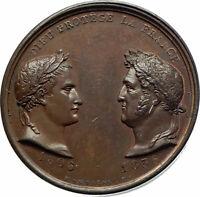 1836 FRANCE Napoleon Bonaparte & Louis Philippe I Arc de Triomphe Medal i76514