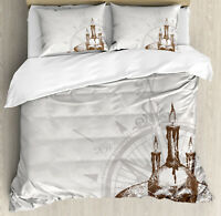 Nautical Ocean Duvet Cover Set Twin Queen King Sizes with Pillow Shams