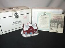 Norman Rockwell Figurine Town Offices Building Main Street (Y783)