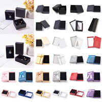 Assorted Cardboard Jewelry Boxes Gifts Paper Boxes for Pendants Earring Display