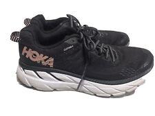 Hoka One W Clifton 6 Black White pink Size Running Shoes Women Size 7 sneaker