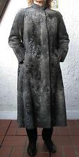 Persianer Breitschwanz Mantel - schwarz grau - Größe ca. 36
