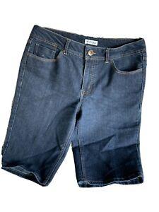 St John's Bay Womens Sz 12 Average Bermuda Denim Shorts