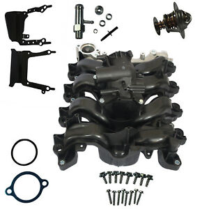 Intake Manifold W/Thermostat & Gaskets Upper Engine Kit New For Ford E-250 E-150