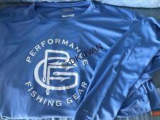 Columbia Pfg Terminal Tackle Longsleeve Blue Swimming Fishing Shirt Xxl Men New