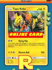 Tau Koko Promo SM30 (Flying Flip) - for Pokemon TCG Online ( ptcgo in Game Card)
