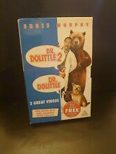 Dr Dolittle & Dr Dolittle 2 - VHS Video Vintage Retro - Very Good
