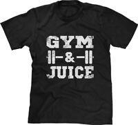 Gym & Juice Song Lyric Parody Workout Fitness Pun Funny Gym Joke Humor Mens Tee