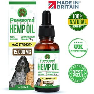 Hemp Oil for Pets 30ml by Pawsome Products® *HIGH STRENGTH* UK Made & Certified