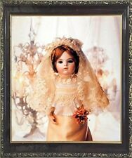 Cute Baby Doll in Wedding Dress Tom Kelley Kids Room Wall Decor Framed Picture