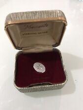 Vintage Krementz Sterling Silver Tie Tack In Box