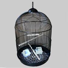 Black 76cm Height Round Dometop Iron Bird Cage New (403B)