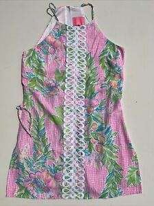 LILLY PULITZER PEARL ROMPER DON'T STOP BELEAFING SIZE 00
