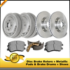 Fits 2000-2006 Mazda MPV Front Drill Slot Brake Rotors+Semi-Met Brake Pads