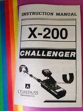 Compass Metal Detector Instruction Manual X-200 Challenger Find Treasure Coins
