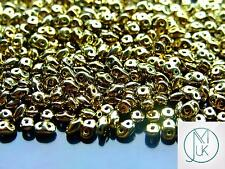 10g Czech SuperDuo Twin Beads Gold