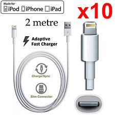 x10 2m Apple iPhone 5 6 7 PLUS SE iPad mini Air Pro iPod Fast data charger cable