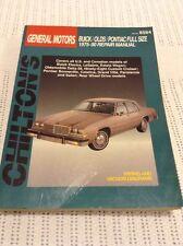 Chilton's GM Repair Manual Part No 8584 1975-90 Buicks/Olds/Pontiac Full Size