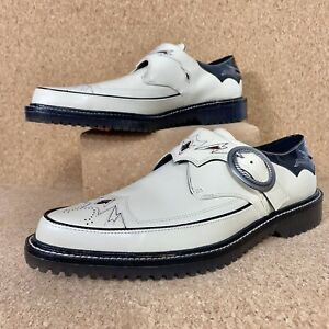 Coach Western Derby Mens In Black Chalk Shoes Limited Edition G3420 Size 9 $395