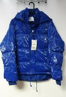 ZARA Womens Vinyl-Effect Puffer Jacket Blue UK Medium LN002 FF 06