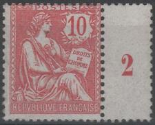 """FRANCE STAMP TIMBRE  N° 124 """" TYPE MOUCHON RETOUCHE 10c ROSE 1902 """" NEUF xx TB"""