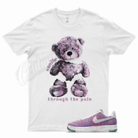 White SMILE T Shirt for Nike Air Force 1 One Crater Flyknit Pink Purple
