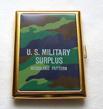 "U.S. Military Surplus woodland pattern Zigarettenetui 8 Zigaretten das ""FLACHE"""