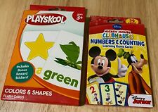 Mickey Mouse Numbers & Counting and PlaySkool Colors & Shapes Learning Cards