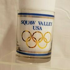 Vintage 1960 Squaw Valley Winter Olympics Advertising Glass Cup