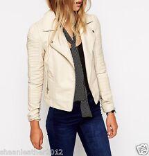 New Women's Leather Motorcycle Biker Jacket 100% Genuine Soft Lambskin #B111