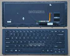 NEW for SONY VAIO Fit 15A multi-flip PC SVF15N Keyboard US Frame Black Backlit