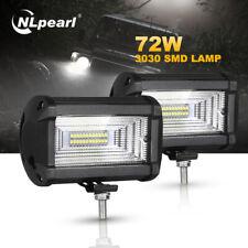 1 Pair 5 Inch 72W LED Light Bar flood offroad Driving Fog Lamp Car Truck 4x4 ATV