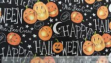 Springs Creative Halloween The Boo Crew Pumpkins 100% cotton fabric by the yard